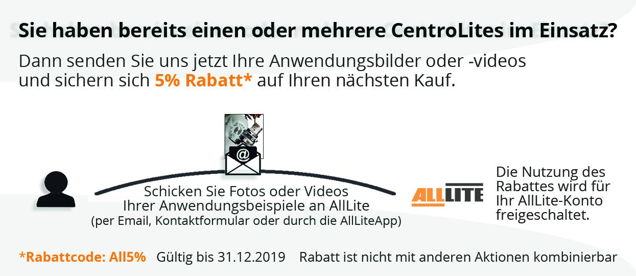 5% Rabatt für Anwendungsbilder/-videos